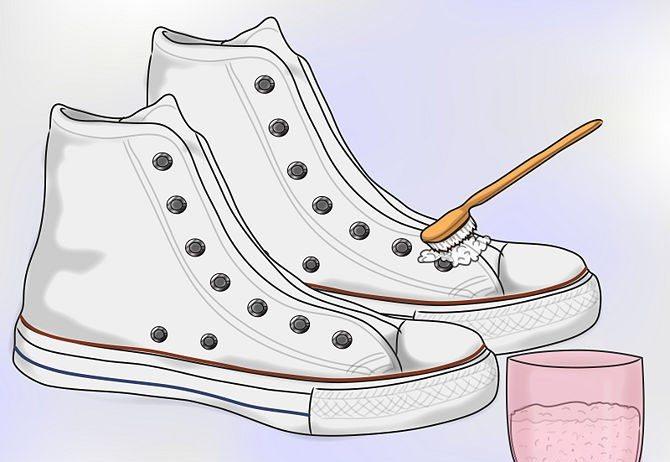 Как да изчистите бели обувки – без значение дали са от плат, кожа или велур.